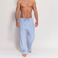 Mens Blue Striped Flannel Pyjama Trousers