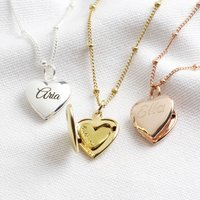 Personalised Engraved Heart Locket Necklace