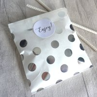 Silver Metallic Spotty Party Bags