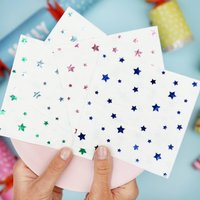 Multi Colour Foil Star Christmas Paper Napkins