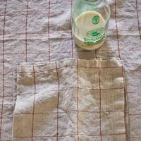 Rust Check Linen Napkins, Set Of Two