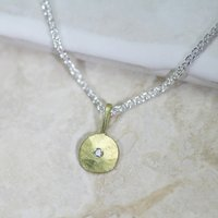 18ct Gold Sun And Star Necklace, Gold