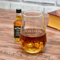Personalised Tumbler And Choice Of 5cl Spirit Gift Set