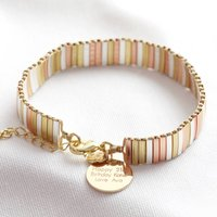 Personalised Mixed Metal Thin Bars Bracelet