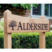 Premium Natural Edge Free Standing House Sign