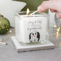 Grandparents First Christmas Penguin Scented Candle