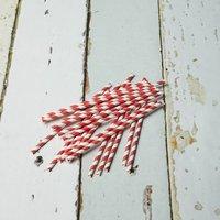 Stripey Straws, Green/Red