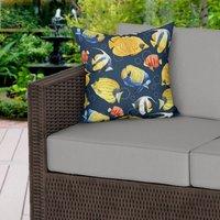 Navy Blue Reef Water Resistant Garden Outdoor Cushion