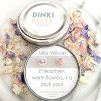 Teachers Gift: Personalised Silver Flower Petal Studs, Silver