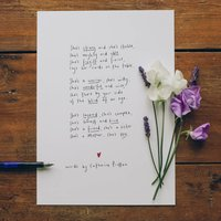 'She' Original Handwritten Poem