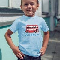Personalised Childrens Bus T Shirt