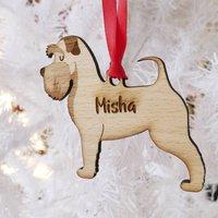 Personalised Schnauzer Wooden Christmas Decoration