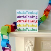 Christening Celebration Card