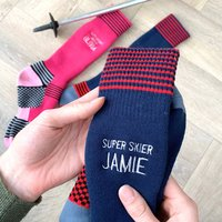 Super Skier Personalised Colourful Ski Socks