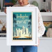 Los Angeles, California Travel Print