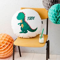 Personalised Dinosaur Round Cushion