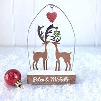 Personalised Love Deer Decoration