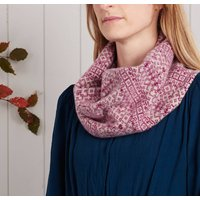 Soft Knitted Fair Isle Lambswool Snood