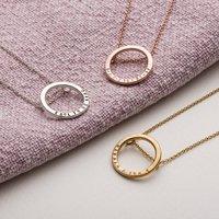 Personalised Large Hoop Necklace
