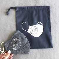 Personalised Face Mask And Carry Bag Set
