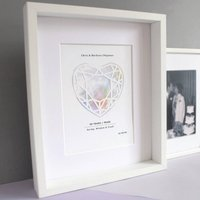 Pearl 30 Year Anniversary Personalised Papercut Print