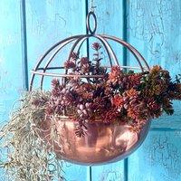 Copper Globe Hanging Planter