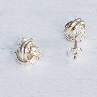 Love Knot Sterling Silver Earrings, Silver