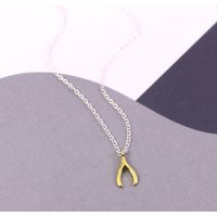 Dainty Wishbone Charm Necklace