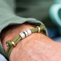 Personalised Mens Bead Date Bracelet