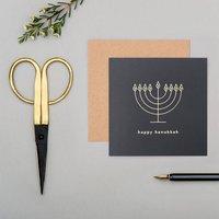 Mono 'Happy Hanukkah' Greeting Card