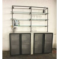 Oxana White Washed Industrial Scaffolding Sideboard