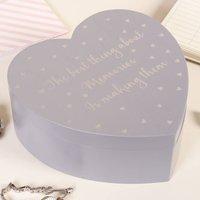 Personalised Making Memories Lavender Heart Trinket Box