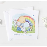 New Baby Card For Rainbow Baby, Christening Card ..4v4a