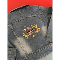 Personalised Embroidered Kids Denim Jacket