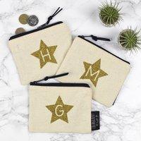 Alphabet Letter Purse Glitter Star