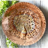 Copper Peacock Wall Art