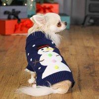 Festive Snowman Christmas Jumper For Dogs