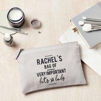 Personalised Bits And Bobs Make Up Bag