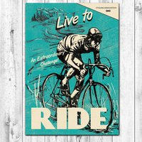 Live To Ride Cycling Card