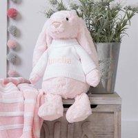Personalised Bashful Pink Bunny Large Soft Toy
