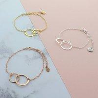 Infinity Link Bracelet, Silver/Rose Gold/Rose