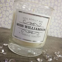 Personalised Teacher Candle