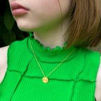 Gold Coil Pendant Necklace, Gold