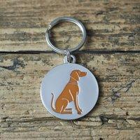 Vizsla Dog ID Name Tag