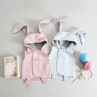 Bunny Sleeveless Jacket, Blue/Pink