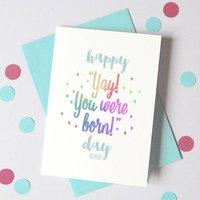 Personalised Yay! Birthday Card