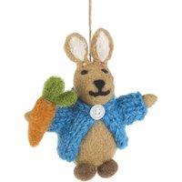 Handmade Felt Rabbit In Cardigan