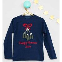 Happy Kissmas Personalised Christmas T Shirt