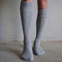 Alpaca Boot Socks, Grey/Navy/Green