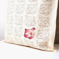 Origami Animals Bear Tote Bag